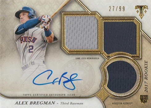 2017 Topps Triple Threads Alex Bregman RC