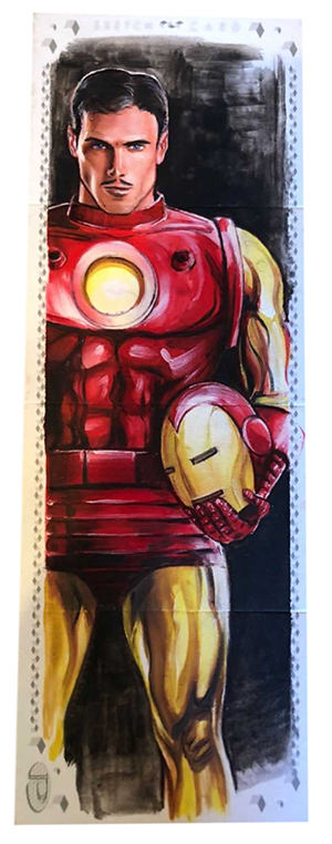2017 Upper Deck Marvel Premier Quad Panel Sketch Iron Man B