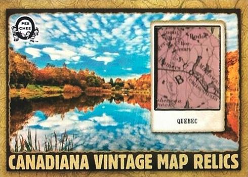 2018-19 O-Pee-Chee Coast-to-Coast Canadian Tire Hockey Canadiana Vintage Map Relics