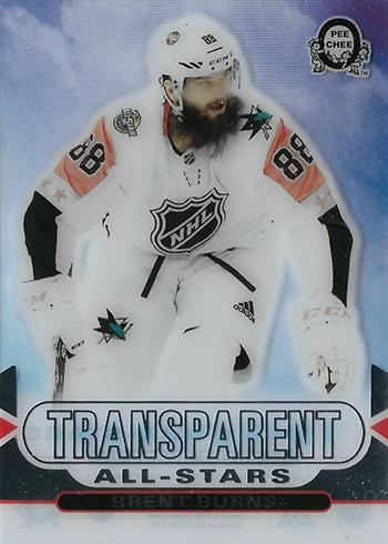 2018-19 O-Pee-Chee Coast-to-Coast Canadian Tire Hockey Transparent All-Stars Brent Burns