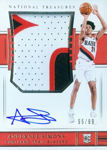 2018-19 Panini National Treasures Basketball Anfernee Simons Rookie Patch Autograph
