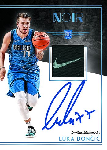 2018-19 Panini Noir Basketball Rookie Patch Autographs Color Tag