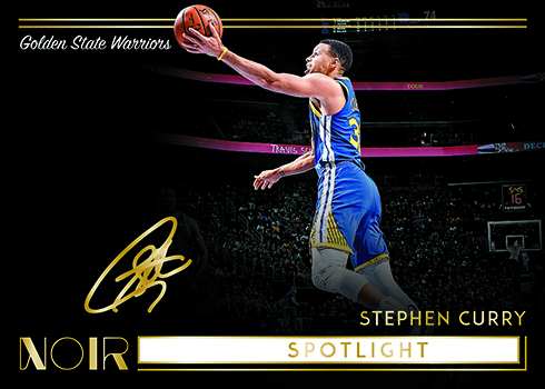 2018-19 Panini Noir Basketball Spotlight Signatures Horizontal