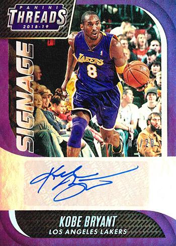 2018-19 Panini Threads Basketball Signage Kobe Bryant