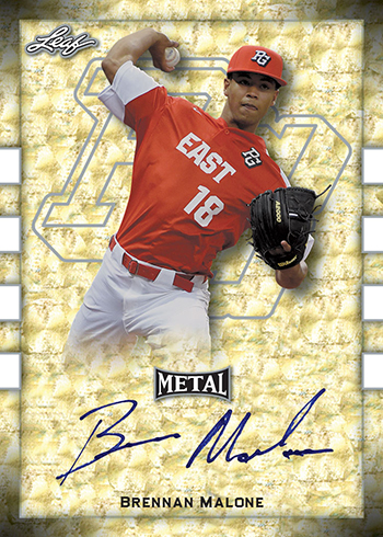 2018 Leaf Metal Perfect Game Gold Super