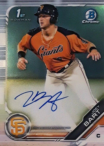 2019 Bowman Chrome Prospect Autographs Joey Bart