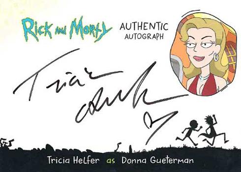2019 Cryptozoic Rick and Morty Season 2 Autographs Tricia Helfer as Donna Gueterman
