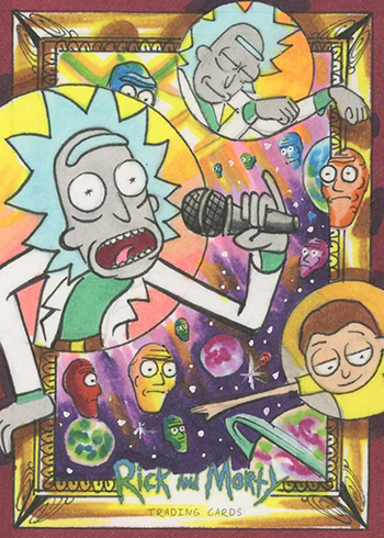 2019 Cryptozoic Rick and Morty Season 2 Sketch Card