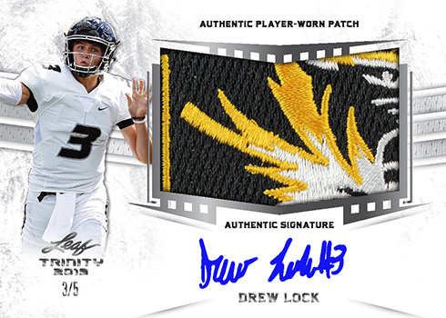 2019 Leaf Trinity Football Patch Auto B