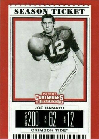 2019 Panini Contenders Draft Picks Football Joe Namath