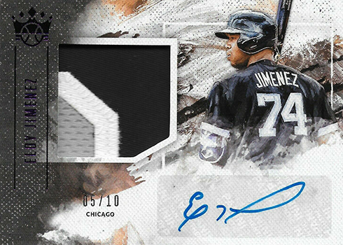 2019 Panini Diamond Kings Baseball DK Materials Signatures Purple Eloy Jimenez