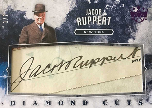 2019 Panini Diamond Kings Diamond Cuts Jack Ruppert