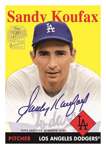 2019 Topps Archives Baseball Fan Favorite Autographs