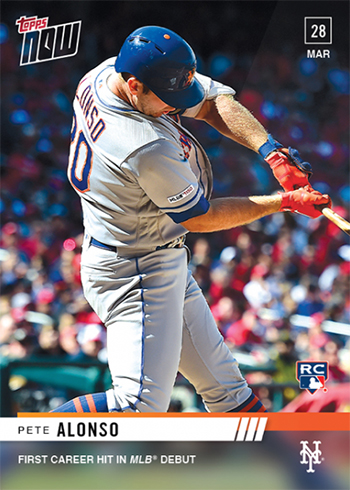 2019 Topps Now Baseball 12 Pete Alonso