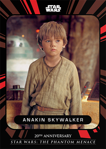 2019 Topps On-Demand Star Wars The Phantom Menace 20th Anniversary Base Anakin Skywalker
