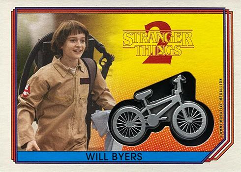 2019 Topps Stranger Things Series 2 Commemorative Medallion Will Byers Bike