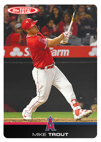 2019 Topps Total Baseball 1 Mike Trout