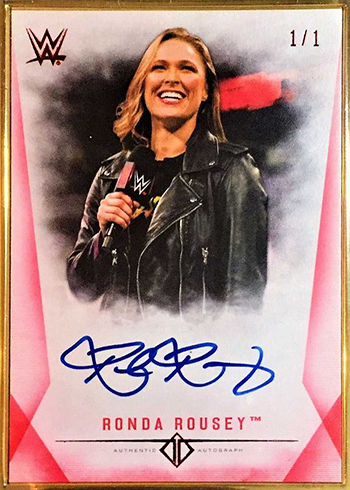 2019 Topps Transcendent WWE Red Autographs Ronda Rousey