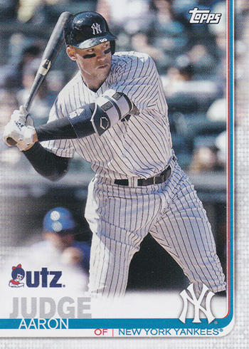 2019 Topps Utz Baseball Aaron Judge
