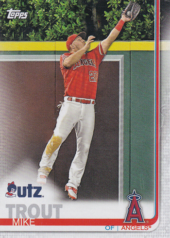 2019 Topps Utz Baseball Mike Trout