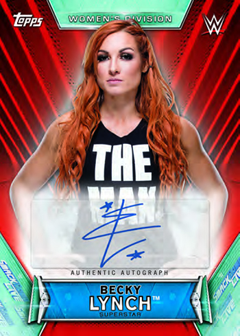 2019 Topps WWE Women's Division Autographs Red