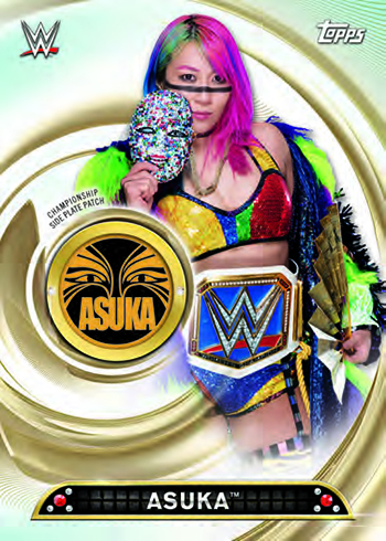 2019 Topps WWE Women's Division Commemorative Championship Side Plate