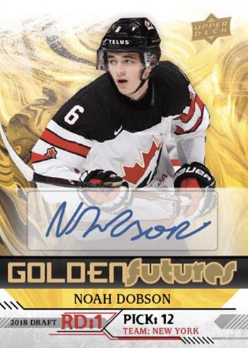 2019 Upper Deck Team Canada Juniors Hockey Golden Futures Autographs