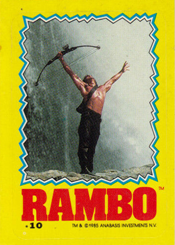 1985 Topps Rambo: First Blood Part II Trading Cards Checklist, Details