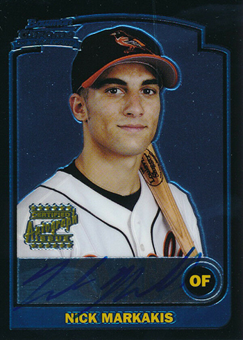 2003 Bowman Chrome Draft Nick Markakis RC Autograph