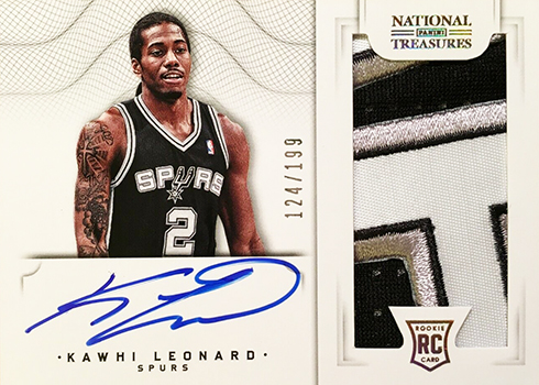 2012-13 Panini National Treasures Kawhi Leonard Rookie Card Autograph Patch B