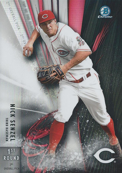 2016 Bowman Chrome Draft Top of the Class Box Toppers Nick Senzel