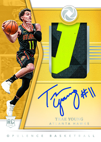 2018-19 Panini Opulence Basketball Rookie Autograph Patch
