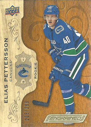 2018-19 Upper Deck Engrained Hockey Elias Pettersson RC