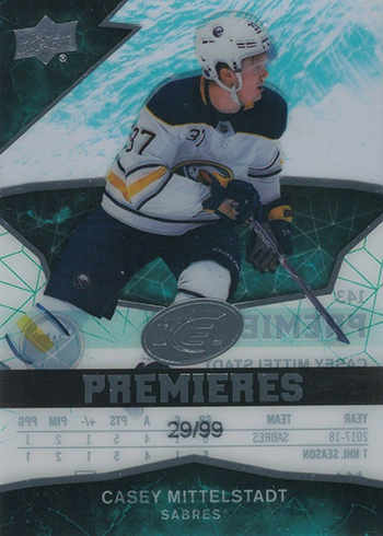 2018-19 Upper Deck Ice Hockey Casey Mittelstadt RC