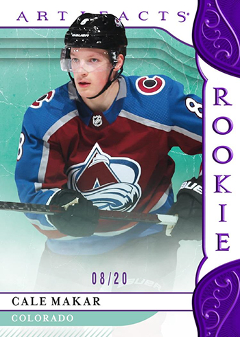 2019-20 Upper Deck Artifacts Hockey Base Rookie Purple