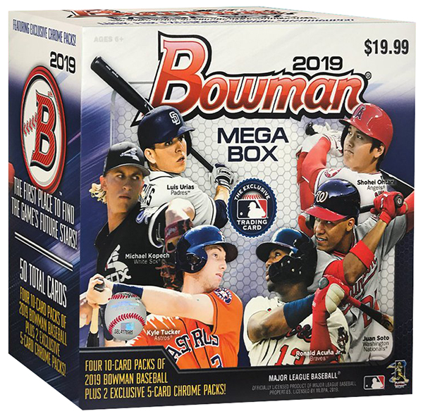 2019 Bowman Chrome Mega Box Baseball
