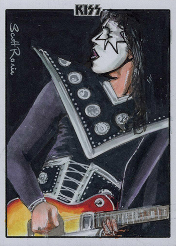 2019 Dynamite KISS Ultra Premium Sketch Cards Scott Rorie