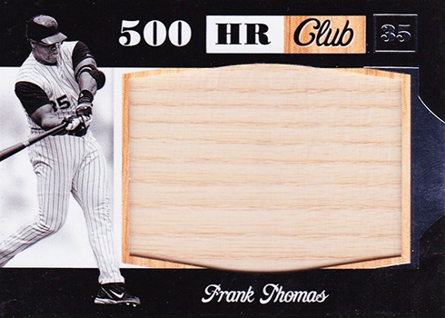 2019 Panini Leather and Lumber Baseball 500 Home Run Club Frank Thomas