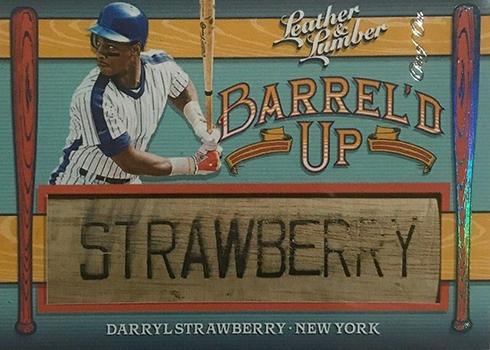 2019 Panini Leather and Lumber Baseball Barreld Up Darryl Strawberry