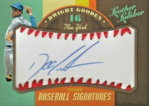 2019 Panini Leather and Lumber Baseball Baseball Signatures Dwight Gooden
