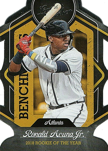 2019 Panini Leather and Lumber Baseball Benchmarks Ronald Acuna Jr