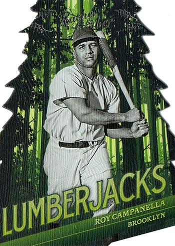 2019 Panini Leather and Lumber Baseball Luberjacks Roy Campanella