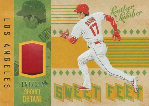 2019 Panini Leather and Lumber Baseball Sweet Feet Gold Shohei Ohtani
