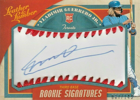 2019 Panini Leather and Lumber Rookie Baseball Signatures Vladimir Guerrero Jr