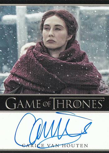 2019 Rittenhouse Game of Thrones Inflexions Bordered Autograph Carice Van Houten