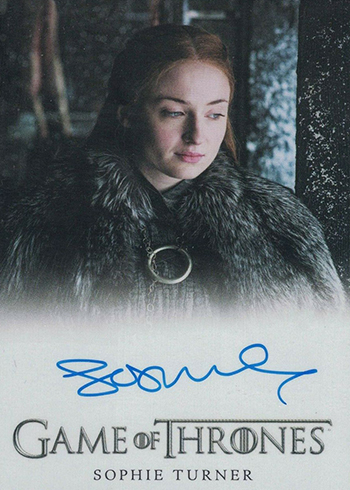 2019 Rittenhouse Game of Thrones Inflexions Full Bleed Autographs Sophie Turner