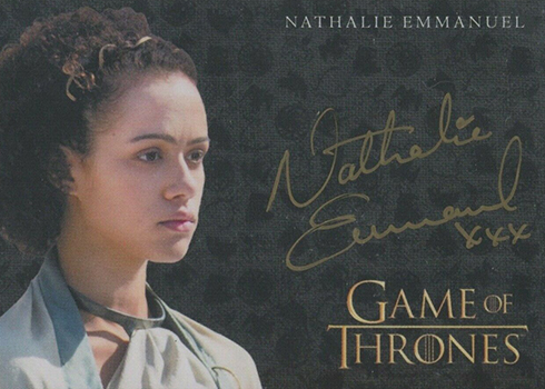 2019 Rittenhouse Game of Thrones Inflexions Gold Autographs Nathalie Emmanuel