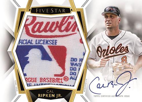 2019 Topps Five Star Baseball Autograph Jumbo Relic MLB Silhouetted Logo