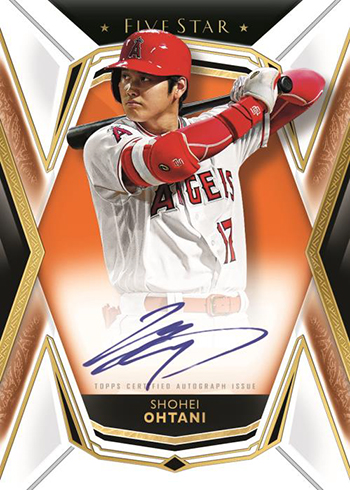 2019 Topps Five Star Baseball Base Autographs Orange