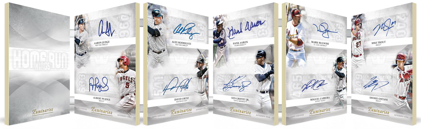 2019 Topps Luminaries Baseball Home Run Kings Ultra Book Card